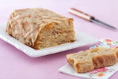 Illustration pour la recette diététique -Gâteau-de-crêpes-aux-pommes-épicées