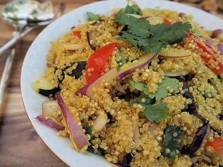 Recette-diététique-Salade de quinoa printanière