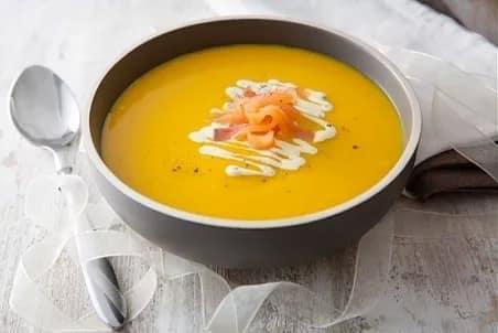 Illustration pour la recette diététique Velouté de carottes au lait de coco