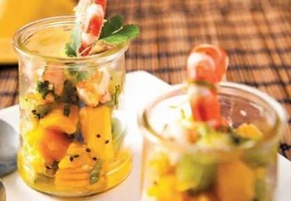 Recette-diététique-Tartare kiwi mangue