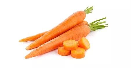 Illustration pour l'aliment diététique la carotte