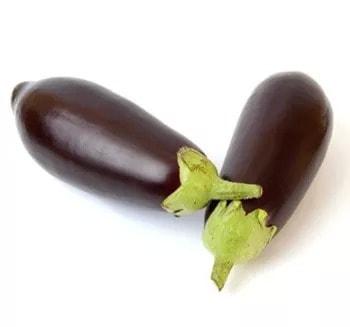 Illustration pour l'aliment diététique l'aubergine