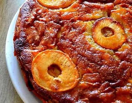 Recette-diététique-Gâteau-aux-pommes-sirop-erable